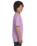 Orchid Youth DryBlend 5.6 oz., 50/50 T-Shirt as seen from the sleeveleft
