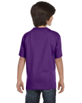 Purple Youth DryBlend 5.6 oz., 50/50 T-Shirt as seen from the back