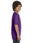 Purple Youth DryBlend 5.6 oz., 50/50 T-Shirt as seen from the sleeveleft