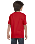 Red Youth DryBlend 5.6 oz., 50/50 T-Shirt as seen from the back