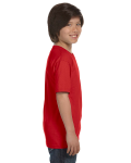 Red Youth DryBlend 5.6 oz., 50/50 T-Shirt as seen from the sleeveleft
