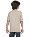 Sand Youth DryBlend 5.6 oz., 50/50 T-Shirt as seen from the back