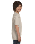 Sand Youth DryBlend 5.6 oz., 50/50 T-Shirt as seen from the sleeveleft
