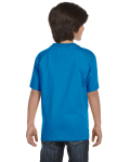 Sapphire Youth DryBlend 5.6 oz., 50/50 T-Shirt as seen from the back