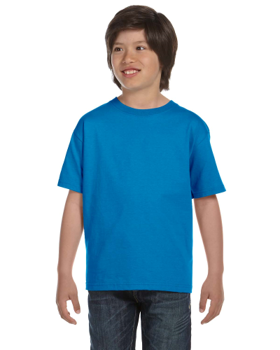 Sapphire Youth DryBlend 5.6 oz., 50/50 T-Shirt as seen from the front