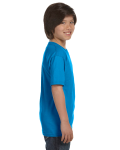 Sapphire Youth DryBlend 5.6 oz., 50/50 T-Shirt as seen from the sleeveleft