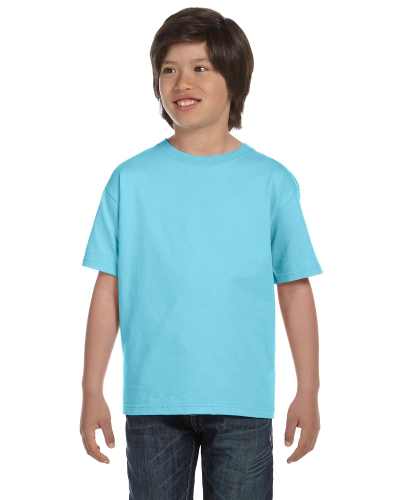 Sky Youth DryBlend 5.6 oz., 50/50 T-Shirt as seen from the front