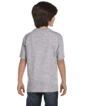 Sport Grey Youth DryBlend 5.6 oz., 50/50 T-Shirt as seen from the back