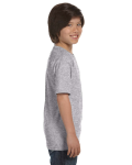 Sport Grey Youth DryBlend 5.6 oz., 50/50 T-Shirt as seen from the sleeveleft