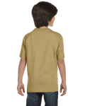 Tan Youth DryBlend 5.6 oz., 50/50 T-Shirt as seen from the back