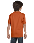 Texas Orange Youth DryBlend 5.6 oz., 50/50 T-Shirt as seen from the back