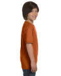 Texas Orange Youth DryBlend 5.6 oz., 50/50 T-Shirt as seen from the sleeveleft