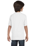 White Youth DryBlend 5.6 oz., 50/50 T-Shirt as seen from the back