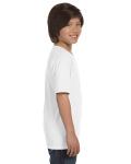 White Youth DryBlend 5.6 oz., 50/50 T-Shirt as seen from the sleeveleft