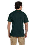 Forest Green DryBlend™ 5.6 oz., 50/50 Pocket T-Shirt as seen from the back