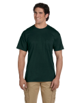 Forest Green DryBlend™ 5.6 oz., 50/50 Pocket T-Shirt as seen from the front