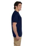 Navy DryBlend™ 5.6 oz., 50/50 Pocket T-Shirt as seen from the sleeveleft