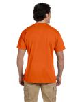 Orange DryBlend™ 5.6 oz., 50/50 Pocket T-Shirt as seen from the back