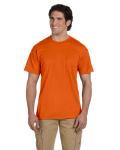 Orange DryBlend™ 5.6 oz., 50/50 Pocket T-Shirt as seen from the front