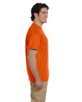 Orange DryBlend™ 5.6 oz., 50/50 Pocket T-Shirt as seen from the sleeveleft