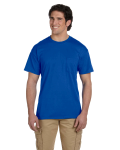 Royal DryBlend™ 5.6 oz., 50/50 Pocket T-Shirt as seen from the front