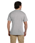 Sport Grey DryBlend™ 5.6 oz., 50/50 Pocket T-Shirt as seen from the back
