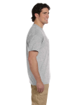Sport Grey DryBlend™ 5.6 oz., 50/50 Pocket T-Shirt as seen from the sleeveleft
