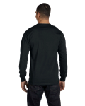 Black DryBlend 5.6 oz., 50/50 Long-Sleeve T-Shirt as seen from the back