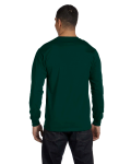 Forest Green DryBlend 5.6 oz., 50/50 Long-Sleeve T-Shirt as seen from the back