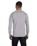 Sport Grey DryBlend 5.6 oz., 50/50 Long-Sleeve T-Shirt as seen from the back