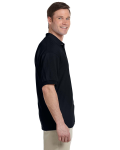 Black 5.6 oz. DryBlend™ 50/50 Jersey Polo as seen from the sleeveleft