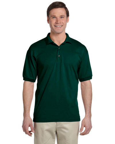 Forest Green 5.6 oz. DryBlend™ 50/50 Jersey Polo as seen from the front