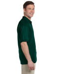 Forest Green 5.6 oz. DryBlend™ 50/50 Jersey Polo as seen from the sleeveleft