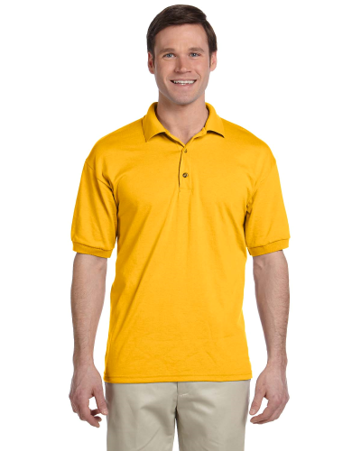 Gold 5.6 oz. DryBlend™ 50/50 Jersey Polo as seen from the front