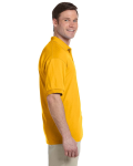 Gold 5.6 oz. DryBlend™ 50/50 Jersey Polo as seen from the sleeveleft