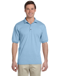 Light Blue 5.6 oz. DryBlend™ 50/50 Jersey Polo as seen from the front