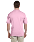 Light Pink 5.6 oz. DryBlend™ 50/50 Jersey Polo as seen from the back
