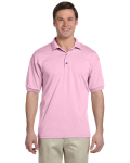 Light Pink 5.6 oz. DryBlend™ 50/50 Jersey Polo as seen from the front