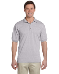 Sport Grey 5.6 oz. DryBlend™ 50/50 Jersey Polo as seen from the front