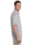 Sport Grey 5.6 oz. DryBlend™ 50/50 Jersey Polo as seen from the sleeveleft