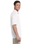 White 5.6 oz. DryBlend™ 50/50 Jersey Polo as seen from the sleeveleft