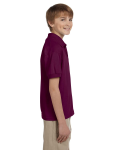 Maroon DryBlend Youth 5.6 oz., 50/50 Jersey Polo as seen from the sleeveleft