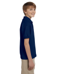 Navy DryBlend Youth 5.6 oz., 50/50 Jersey Polo as seen from the sleeveleft