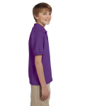 Purple DryBlend Youth 5.6 oz., 50/50 Jersey Polo as seen from the sleeveleft