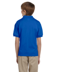 Royal DryBlend Youth 5.6 oz., 50/50 Jersey Polo as seen from the back
