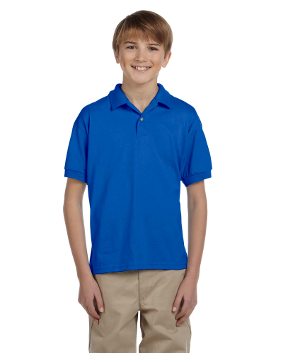 Royal DryBlend Youth 5.6 oz., 50/50 Jersey Polo as seen from the front