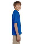 Royal DryBlend Youth 5.6 oz., 50/50 Jersey Polo as seen from the sleeveleft
