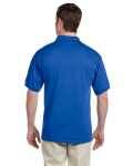 Royal DryBlend™ 6 oz., 50/50 Jersey Polo with Pocket as seen from the back