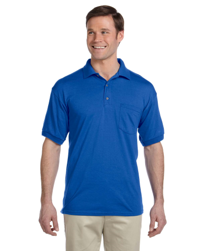 Royal DryBlend™ 6 oz., 50/50 Jersey Polo with Pocket as seen from the front