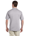 Sport Grey DryBlend™ 6 oz., 50/50 Jersey Polo with Pocket as seen from the back
